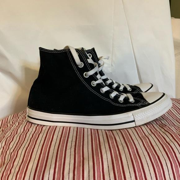 Converse all star black high tops like new M10 W12